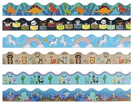 Amazon Com Bulletin Borders 6 Pack Bulletin Board Borders Cute