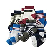 Carter's Baby-Boys Socks, Striped, 0-3 Months (Pack of 6)