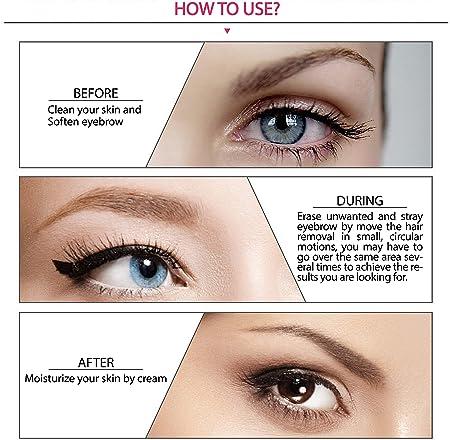 Moulei Eléctrica Depiladora Cejas,Ceja Recortador, Eyebrow Trimmer Mujer Depiladora Facial Para,Depilacion De Cejas Batería Incluida