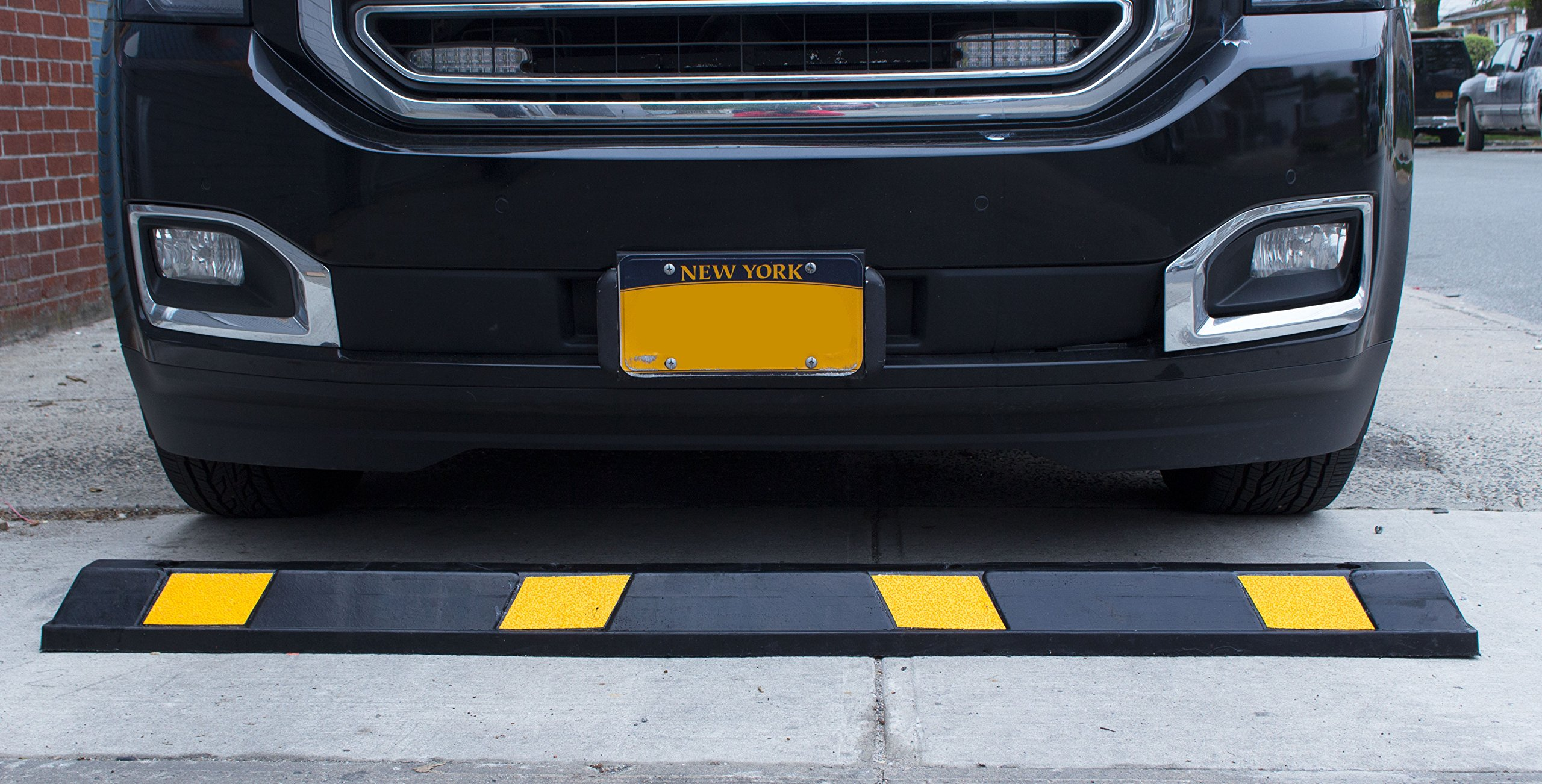 RK-BP72 Heavy Duty Rubber Parking Curb, Parking Block, 72 -Inch for Car, Truck, RV and Trailer Stop Aid by RK (Image #4)
