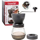 Coffee Burr Grinder- The Original EvenGrind Manual Ceramic Burr Grinder with Patented Stability Cage- Even Coffee Grounds Guaranteed!