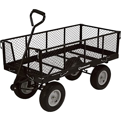 This Is Yet Another Garden Cart That Goes Best With Heavy Duty Gardening.  Packed With A 1,400 Pound Capacity, This Wagon Can Load An Enormous Amount  Of ...