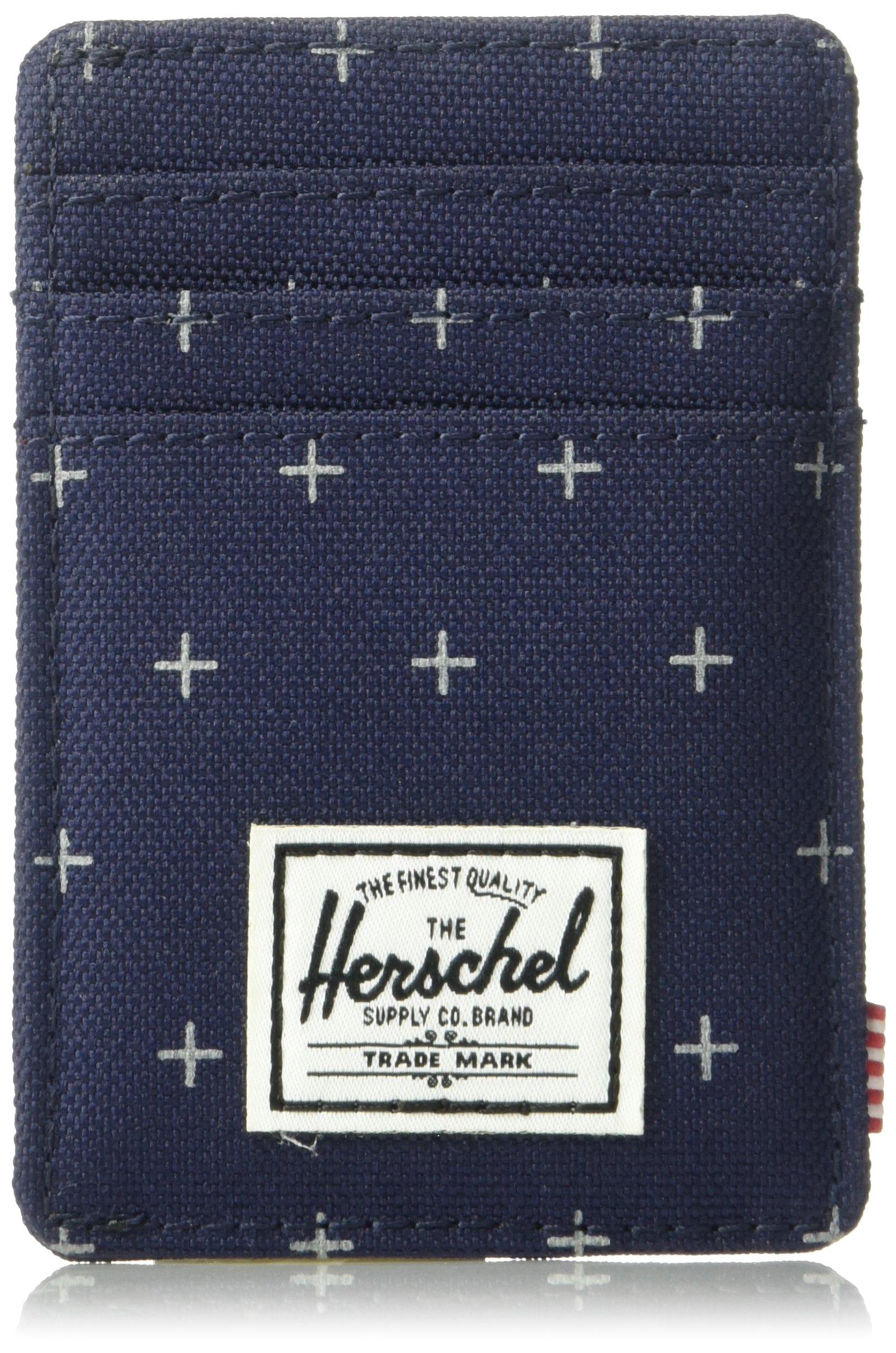 Herschel Supply Co. Men's Raven Rfid Wallet, Peacoat Gridlock, One Size