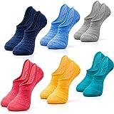 IDEGG Men's No Show Casual Ankle Socks Anti-slid Athletic Cotton Socks