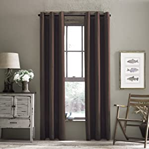 Croscill Cody Room Darkening Grommet Panel, 48 by 95-Inch, Chocolate