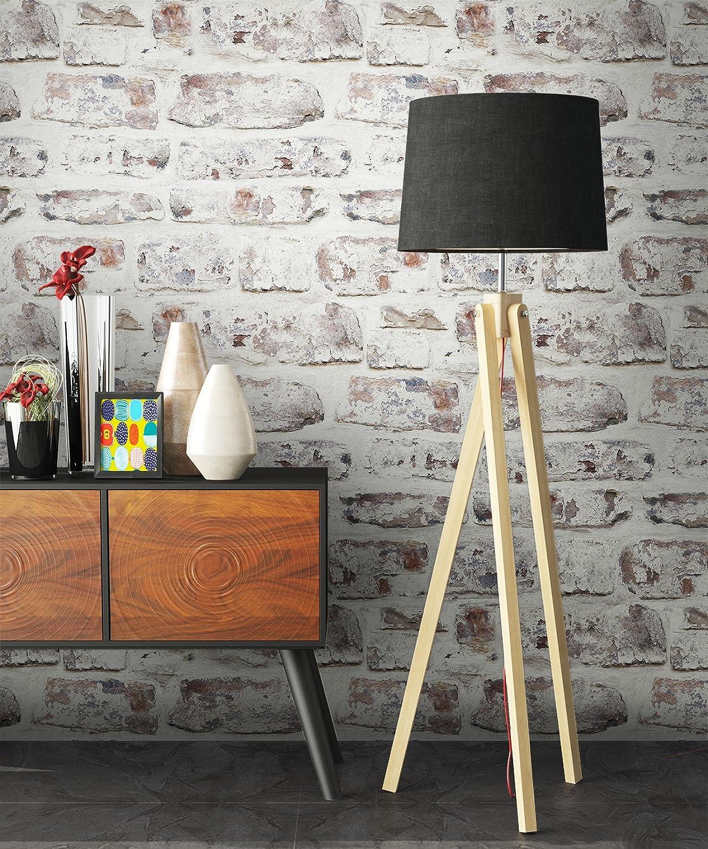 NEWROOM Papier peint brique blanc,marron blanc,marron maison de campagne brique,m/ûr,nature