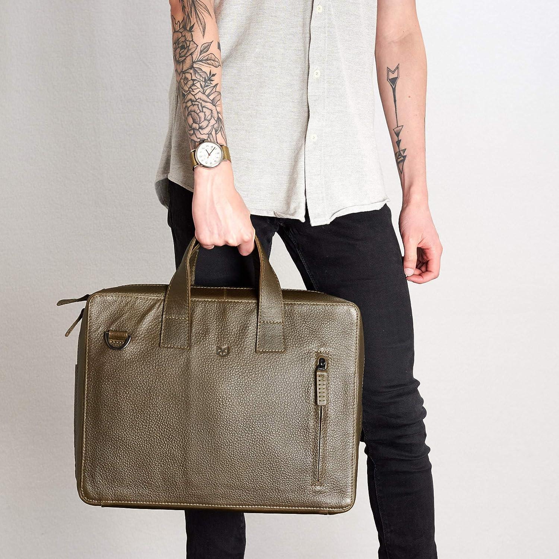 Men Leather Briefcase Business Laptop Bag Attache Messenger Portfolio Bag Large