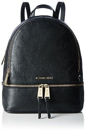 b02b59afa79e ... coupon code michael michael kors rhea zip medium leather backpack black  9f3d9 7525b
