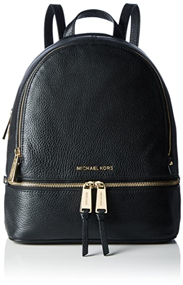 Amazon.com: MICHAEL Michael Kors Rhea Zip Medium Leather Backpack ...
