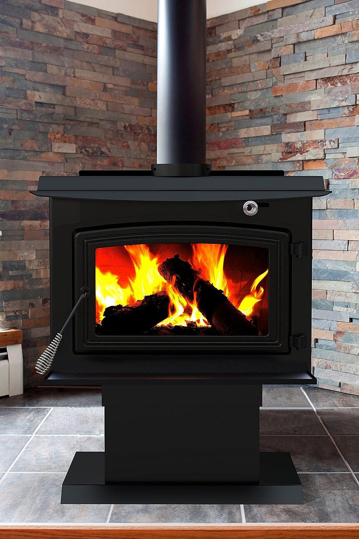Pleasant Hearth 2,200 Sq Ft Large Wood Burning Stove