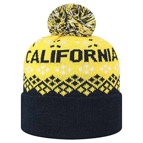 49102108948 Image Unavailable. Image not available for. Color  Top of the World Cal  Bears Official NCAA Cuffed Knit Advisory Stocking Stretch Sock Hat Cap
