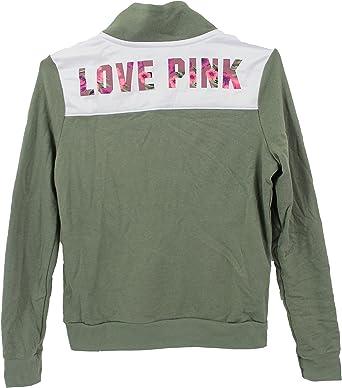 Details about  /Victoria Secret Pink BOYFRIEND FULL ZIP COZY SWEAT SHIRT HOODIE S TRAVEL JACKET