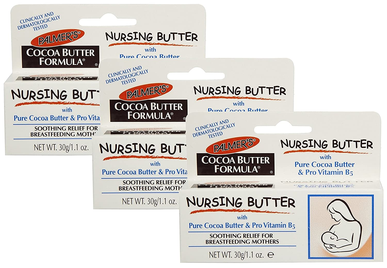 Palmer's Cocoa Butter Nursing Cream, 1.1 Ounce, Pack of 3 Palmer' s