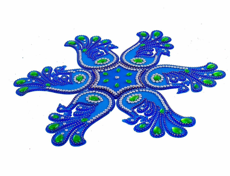 Buy Diwali Gifts Floor Rangoli Acrylic Stencil Handmade 7 Pieces