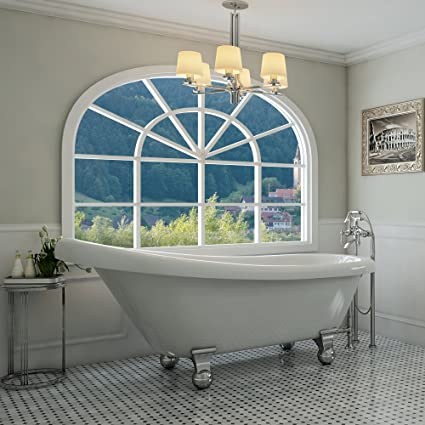 Stand Alone Designs : Luxury inch modern clawfoot tub in white with stand alone