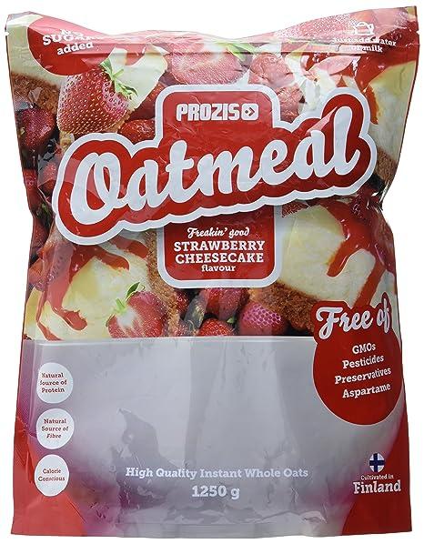 Prozis Oatmeal, Tarta de Queso con Fresas - 1250 gr
