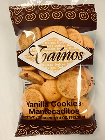 1 Pack of Tainos Vanilla Cookies (Mantecaditos)