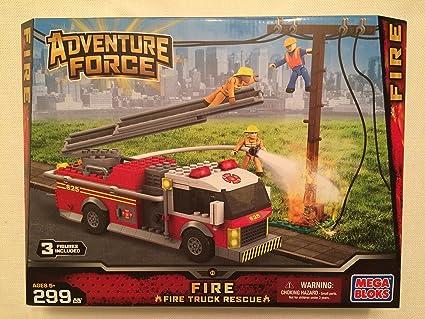 Amazon.com: Mega Bloks Aventura Force Fire Truck Rescue ...