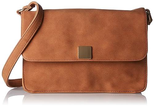 Pieces Pcliede Cross Body Bag, Sacs bandoulière femme, Braun (Cognac), 5x12x20 cm (B x H T)
