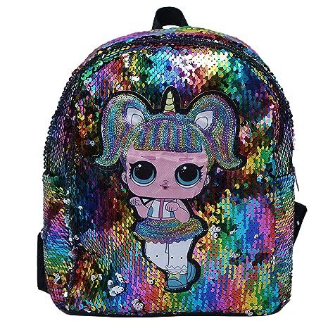 Kids Glittery Horn//Mermaid Backpack Daypack Shoulder Travel Bag Schoolbag