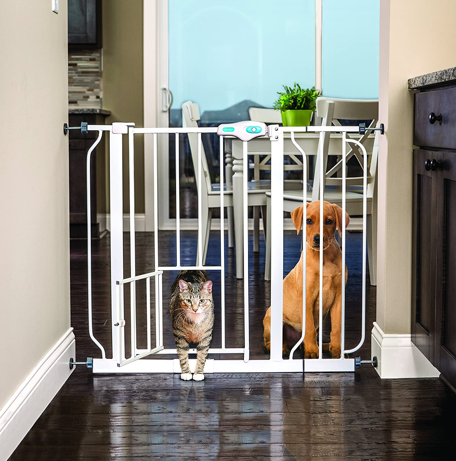 Carlson Extra Tall Wide Walk-Through Baby Gate with Pet Door, Lock, Baby, Gates, Top, Best, Good
