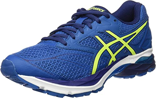 Asics Gel-Pulse 8, Zapatillas de Running para Hombre, Azul (thunder blue/safety yellow/indigo blue), 49 EU (13 UK): Amazon.es: Zapatos y complementos