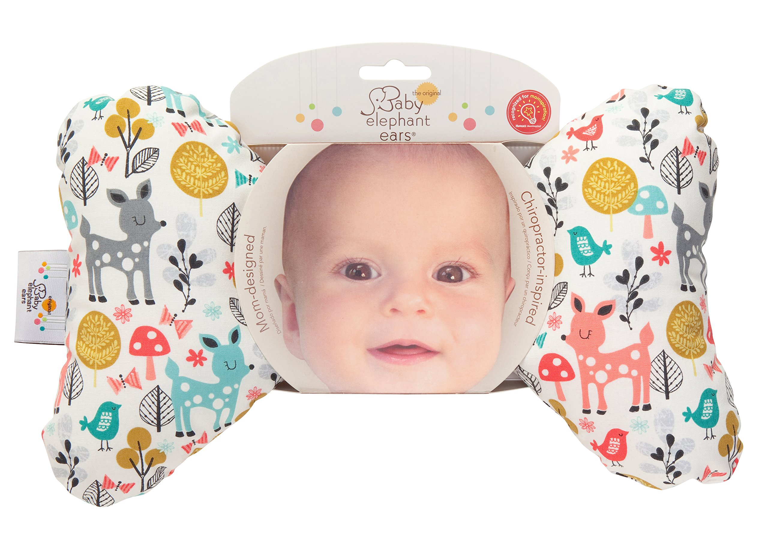 Original Baby Elephant Ears Head Support Pillow for Stroller, Swing, Bouncer, Changing Table, Car Seat, etc. (Woodland Wonder) by Original Baby Elephant Ears (Image #9)