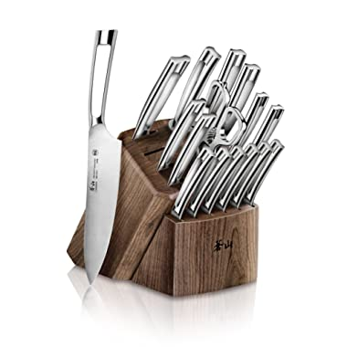Cangshan N1 Series 1022636 German Steel Forged 17-Piece  Knife Block Set, Walnut