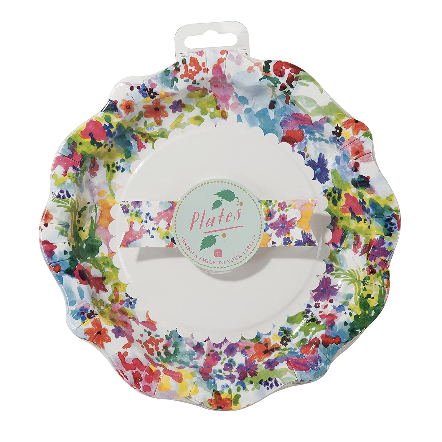 Amazon.com Talking Tables Floral Fiesta Large Colorful Disposable Plates 12 count for a Tea Party Birthday or Luau Party Kitchen \u0026 Dining  sc 1 st  Amazon.com & Amazon.com: Talking Tables Floral Fiesta Large Colorful Disposable ...