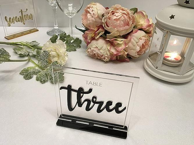 Terrific Amazon Com Wedding Luxury Table Numbers Reception Custom Interior Design Ideas Clesiryabchikinfo