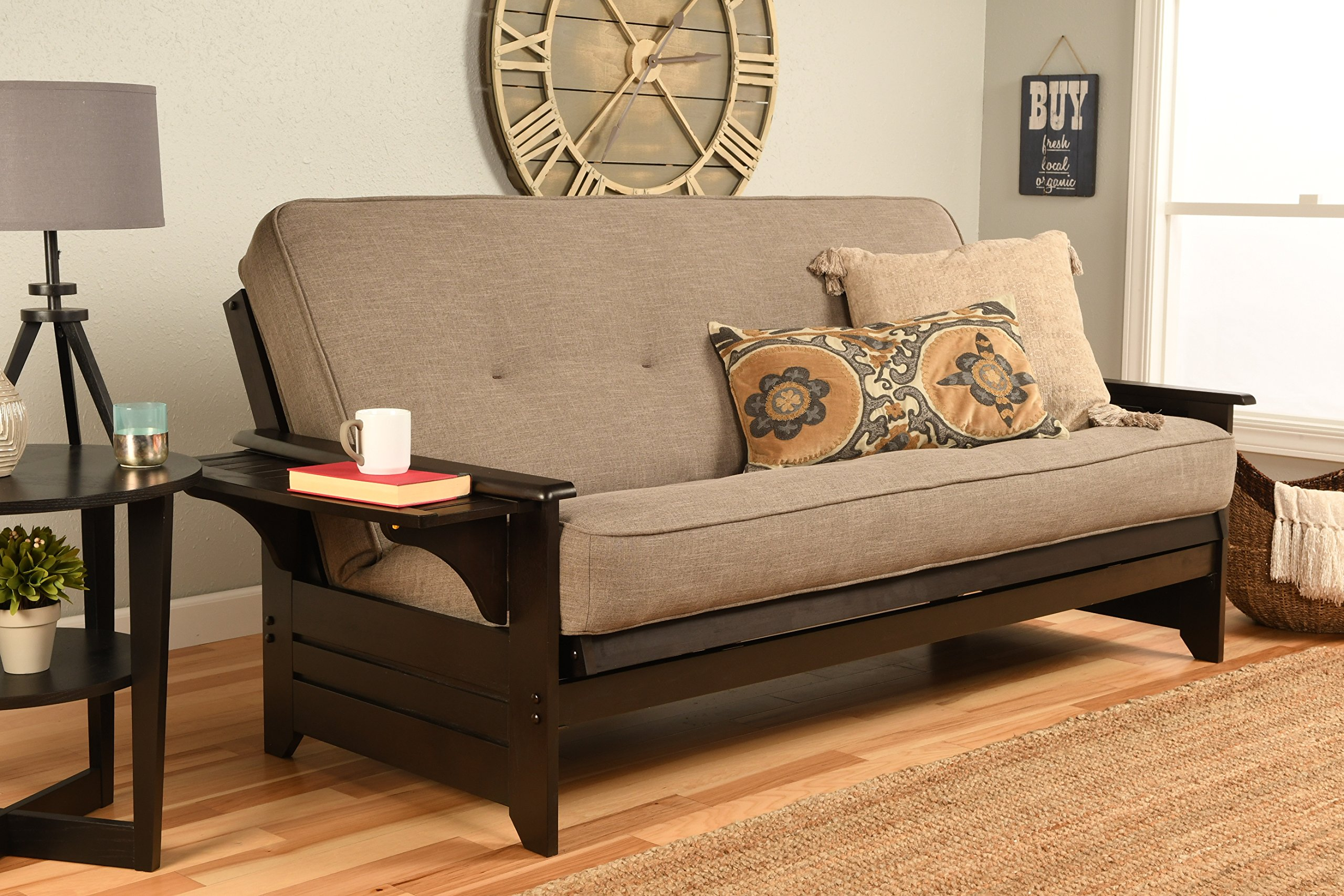Kodiak Furniture Phoenix Full Size Futon in Espresso Finish, Linen Stone by Kodiak Furniture