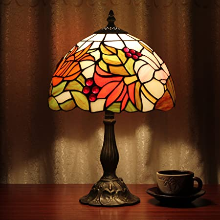 10 pulgadas Pastoral Goldfish forma uvas rojas Tiffany ...