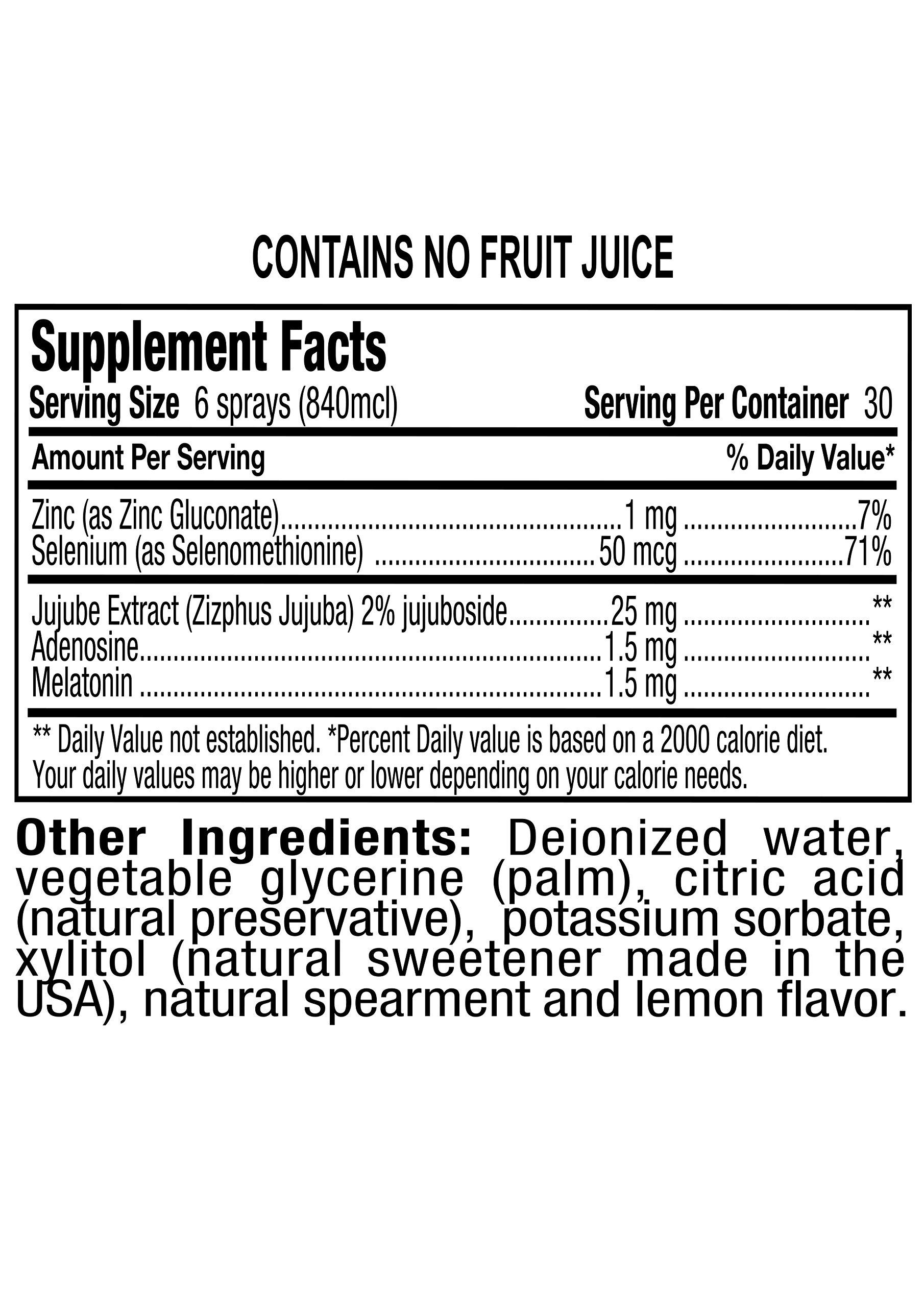 Spray for Life Melatonin Spray with Nanotechnology for Improved Sleep Guaranteed 1oz - Spearmint & Lemon - 30 Day Supply by Spray For Life (Image #3)