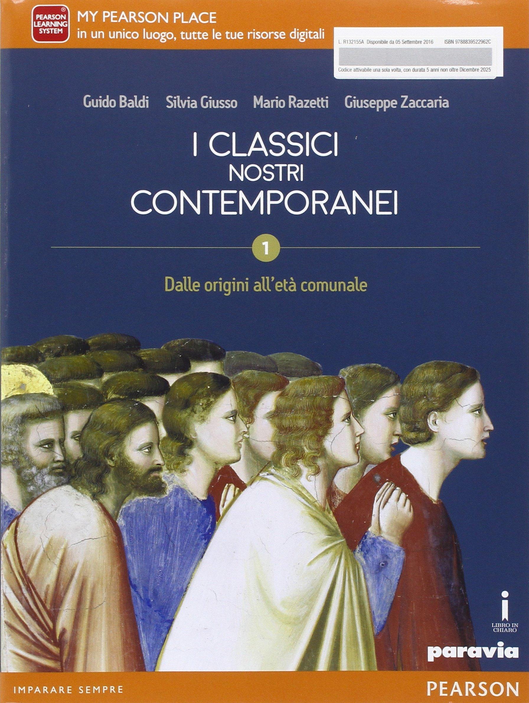 I classici nostri contemporanei 1, libro di letteratura per le scuole superiori