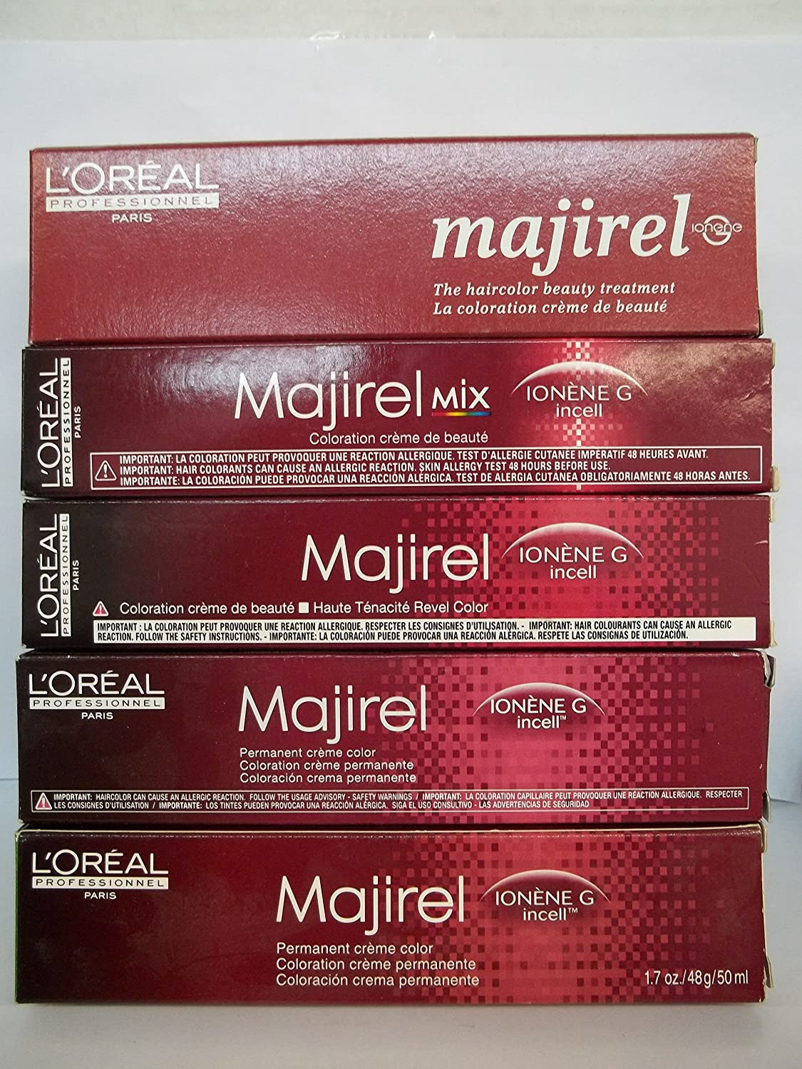 Majirel colour chart - Amazon Com L Oreal Professionnel Majirel Ionene G Incell Permanent Creme Color 1 1n Chemical Hair Dyes Beauty