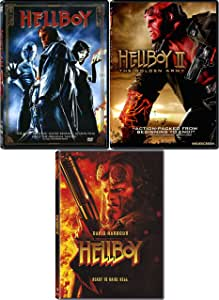 Hellboy 1-2 and 2019 Reboot: Complete Live Action Movie Series DVD Collection