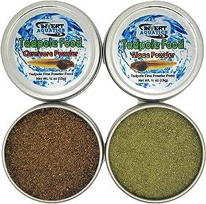 Invert Aquatics Tadpole Food - Fine Powder Foods for Tadpoles, Fry & Live Cultures (Combo Pack (1oz (30g) Total))