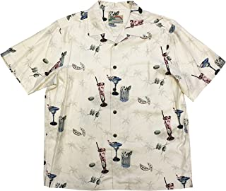 product image for Paradise Found Men's PAU Hana Cocktail Silk Shirt, Vanilla, L