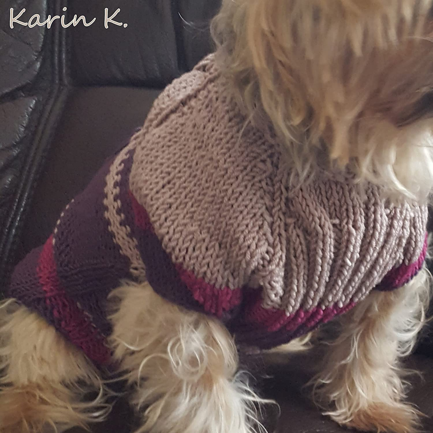 Perfect Häkeln Kleinen Hund Pullover Muster Illustration - Decke ...