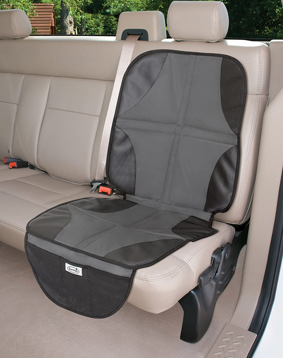 Summer Infant DuoMat Baby Child Car Seat Protector Mat with Storage 2 Pack