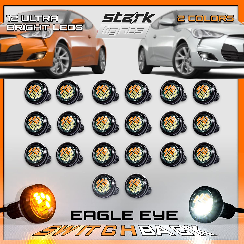 Stark Eagle Eye 15W 12-SMD LED White Back Up Reverse Daytime Running Light Bulb 6 PCS