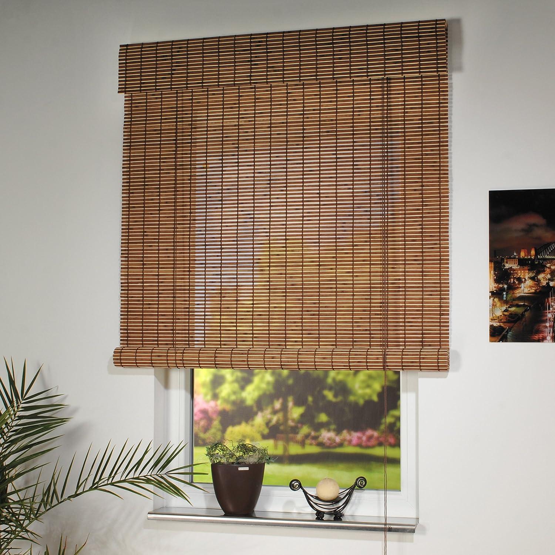 Großartig Amazon.de: Liedeco Rollo Holz mit Seitenzug, Holzrollo für Fenster  NX66