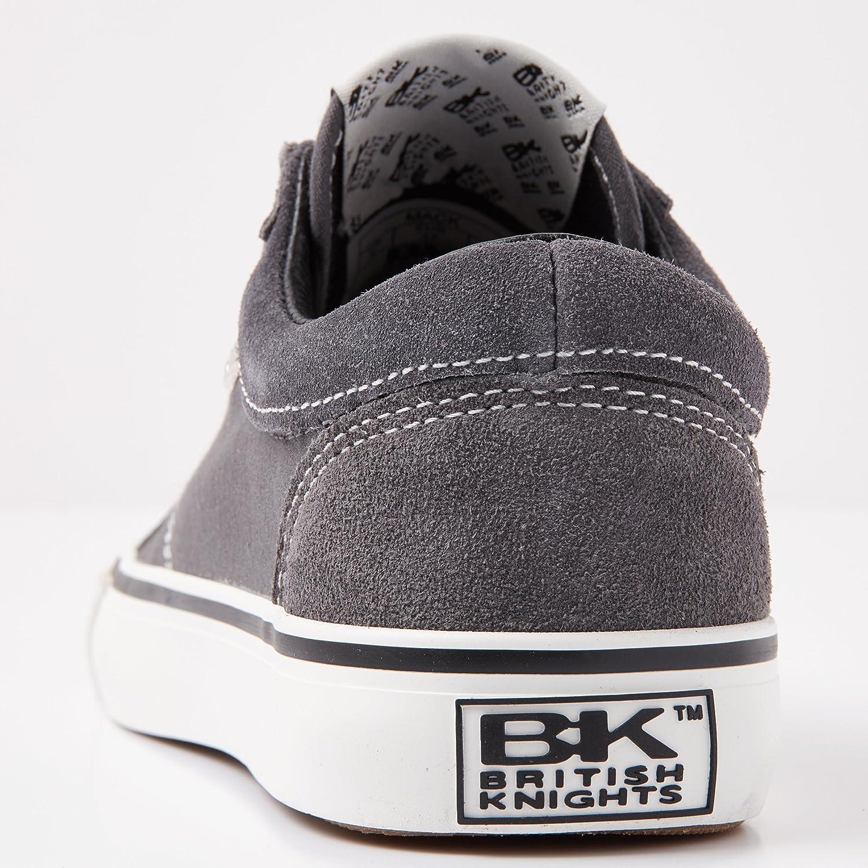 British Knights Herren Herren Herren Mack Sneaker Dunkelgrau/Weiss 526396