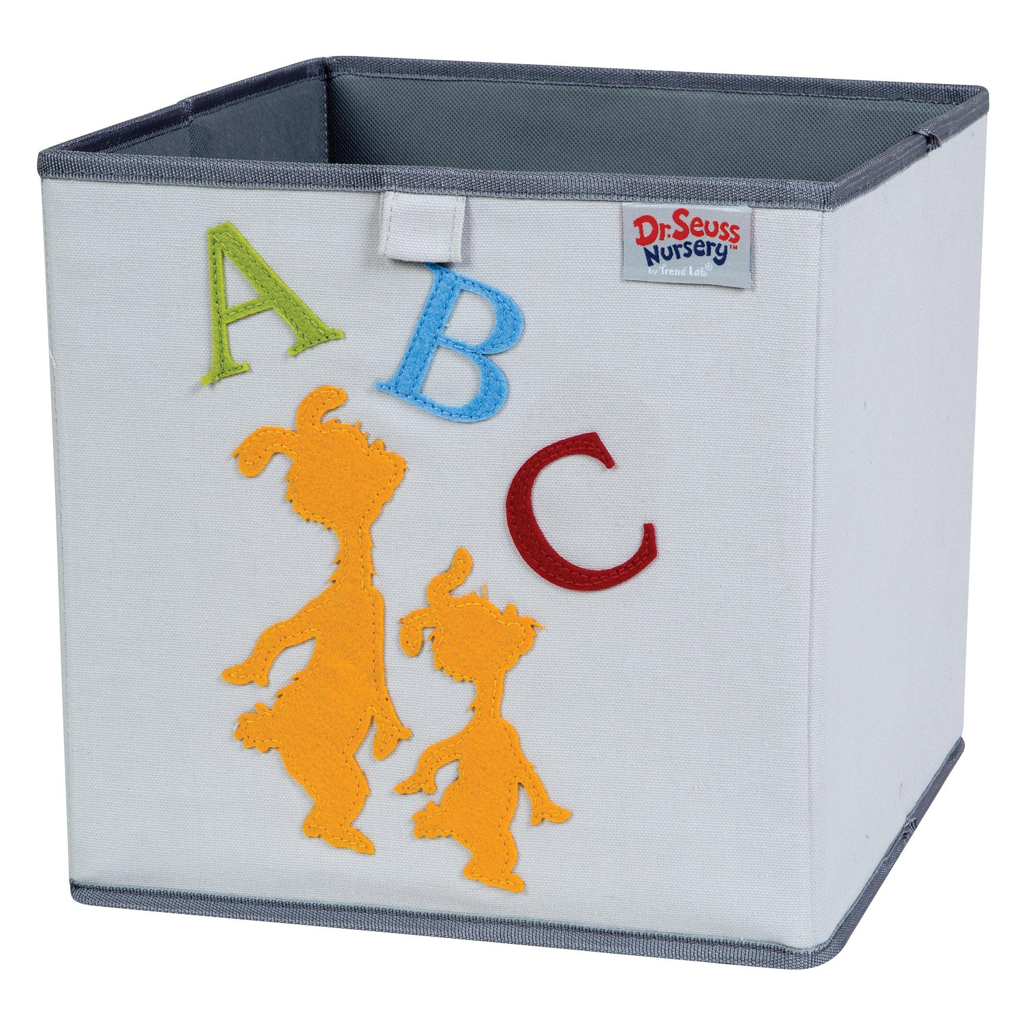 Trend Lab Dr. Seuss ABC Storage Bin, Yellow/Green/Red/Blue/Gray
