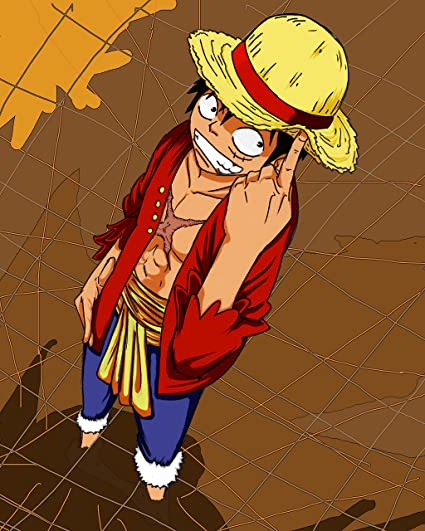 Amazon Com One Piece Monkey D Luffy 1 Wanted Poster