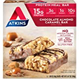 Atkins Protein Meal Bar, Chocolate Almond Caramel, Keto Friendly, 5 Count