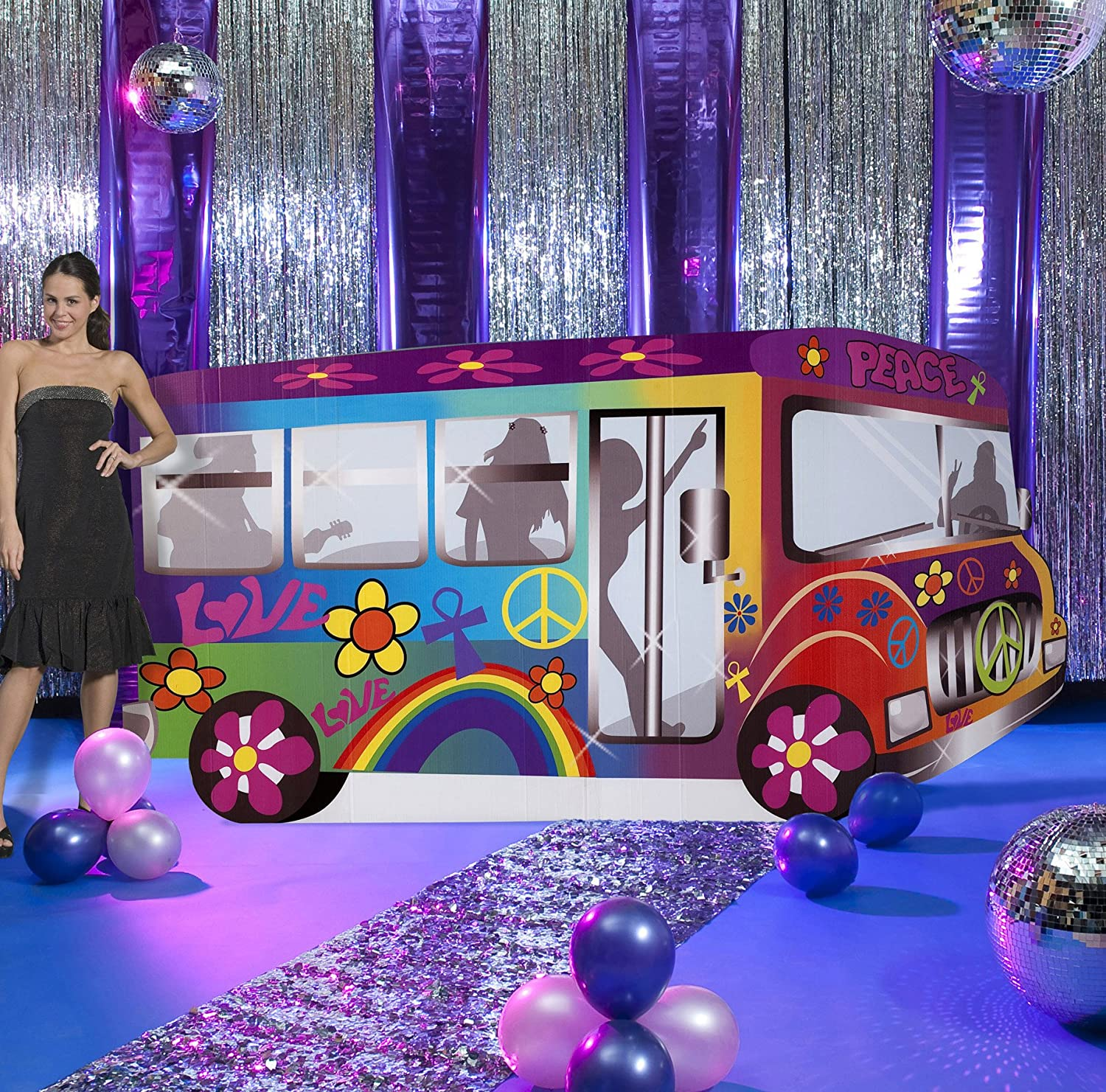 . Amazon com  Groovy Bus Standee Party Prop Decoration  Toys   Games