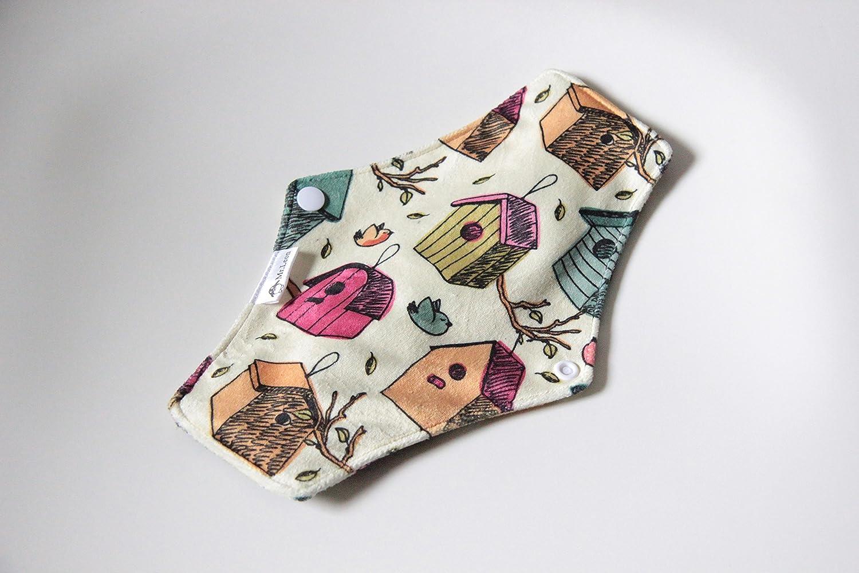 Compresas reutilizables | 4 salvaslip tela muy absorbentes | toallas femeninas de tela menstruación (Beige): Amazon.es: Salud y cuidado personal