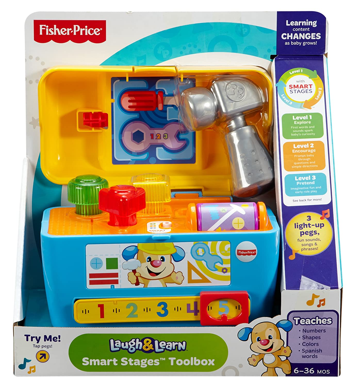 Amazon Fisher Price Laugh & Learn Smart Stages Toolbox Toys