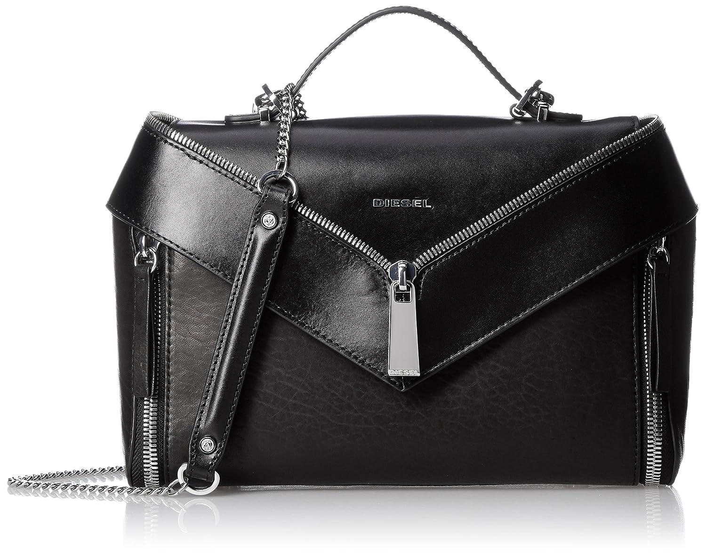 (ディーゼル) DIESEL LE-ZIPPER LE-TRASY II handbag X05172P1664 B0772LQF3Cブラック UNI (Free)
